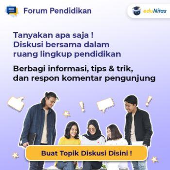 Posting diskusi di forum pendidikan eduNitas