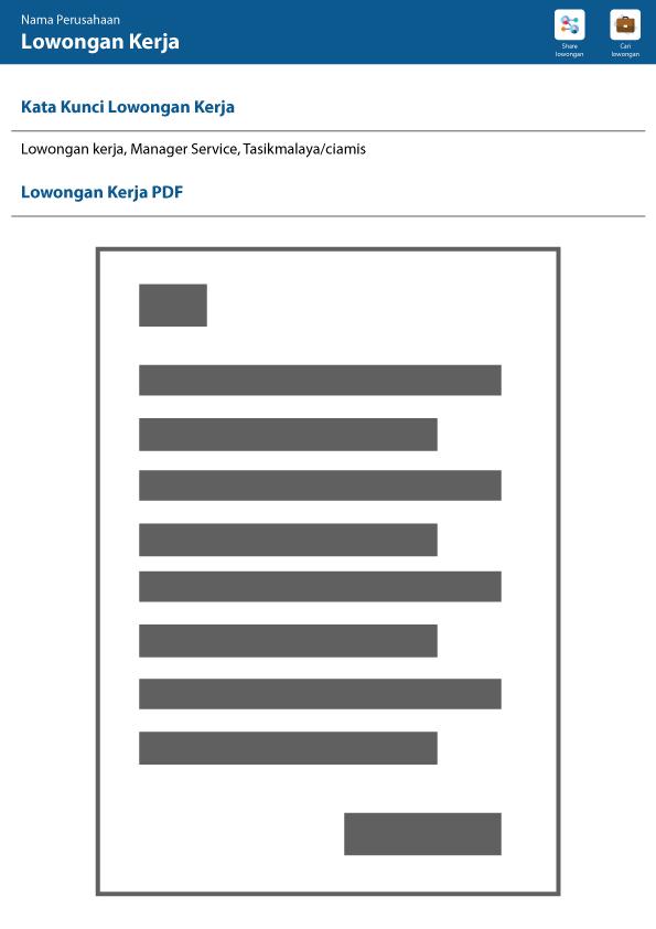 Template lowongan kerja pdf